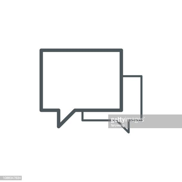 speech bubble icons - thought bubble stock illustrations