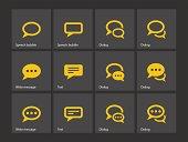 Speech bubble icons.