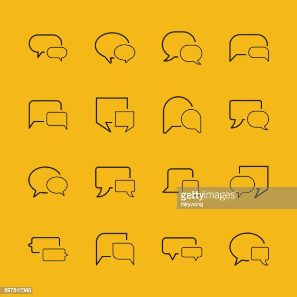 speech bubble icons - thought bubble icon stock illustrations