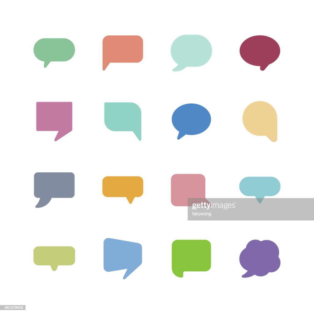 Speech bubble icons : stock illustration
