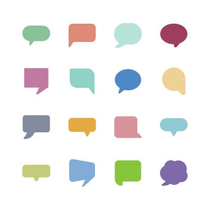 Speech bubble icons - gettyimageskorea
