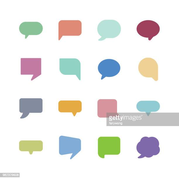 speech bubble icons - shape stock illustrations
