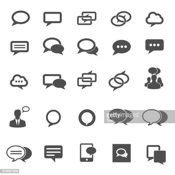 Speech bubble icons. Vector illustration
