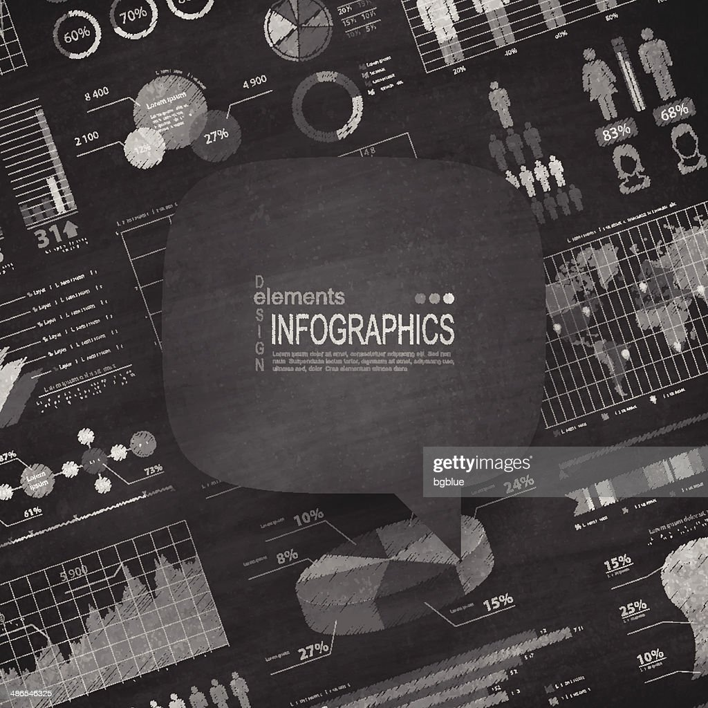Speech bubble - Infographic elements Blackboard - Chalkboard