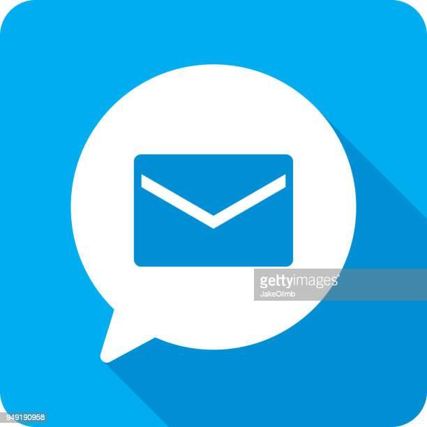 音声バブルの手紙シルエット - 発送書類入れ点のイラスト素材/クリップアート素材/マンガ素材/アイコン素材