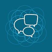 Speech Bubble , Line Style Design