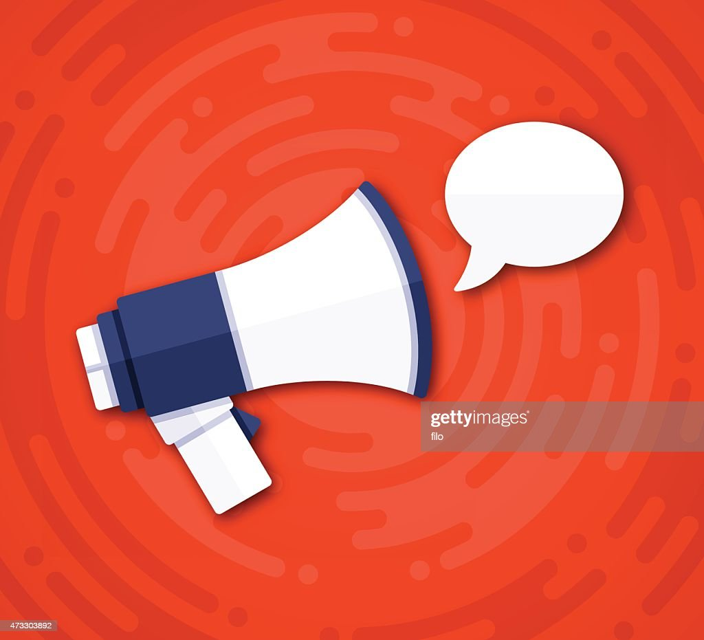 Speech Bubble Message Bullhorn