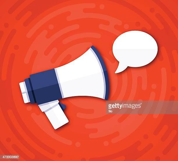 Speech Bubble Message Bullhorn