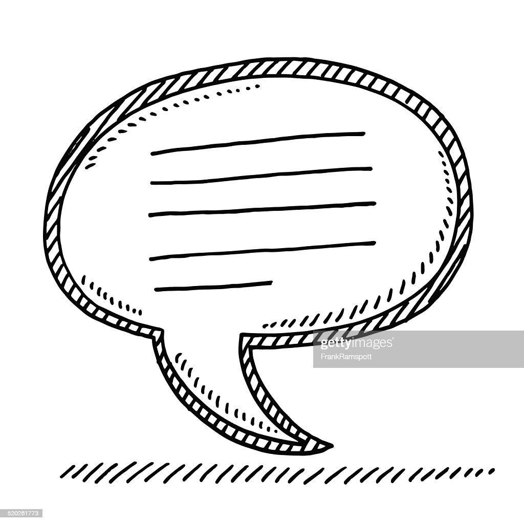 Vector Drawing Lines Examples : Speech bubble message lines drawing vector art getty images