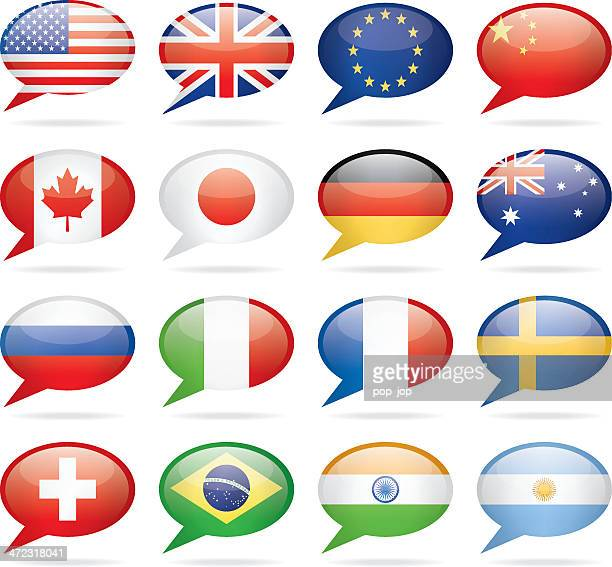 speech bubble most popular flags - japanese flag stock illustrations, clip art, cartoons, & icons