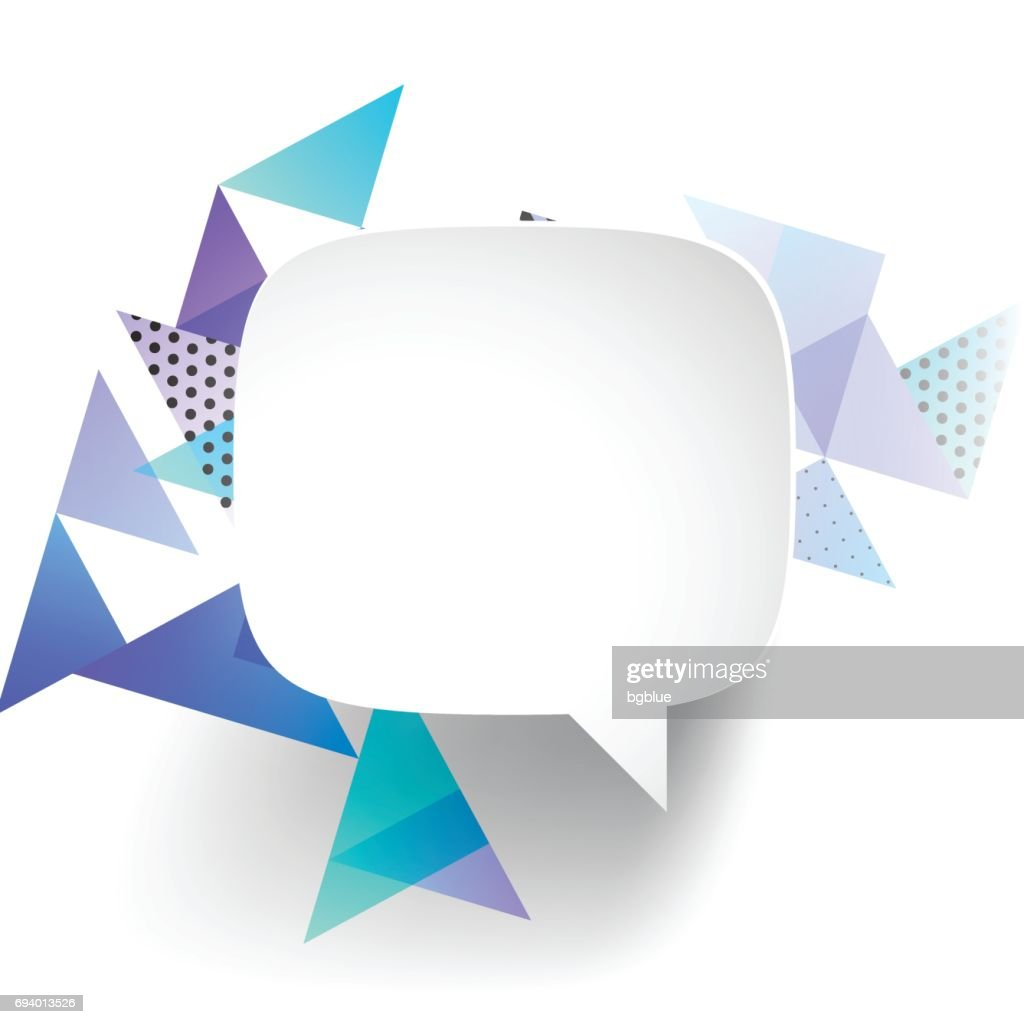 Speech Bubble On Abstract Geometric Background High-Res ...