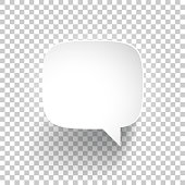 Speech Bubble on blank background