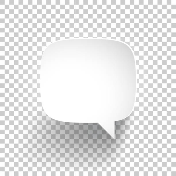 speech bubble on blank background - bubble stock illustrations