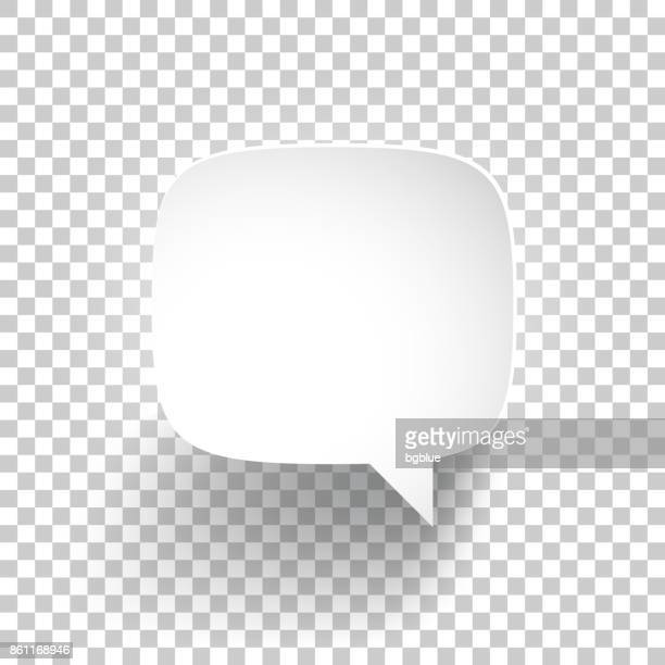 speech bubble on blank background - white background stock illustrations