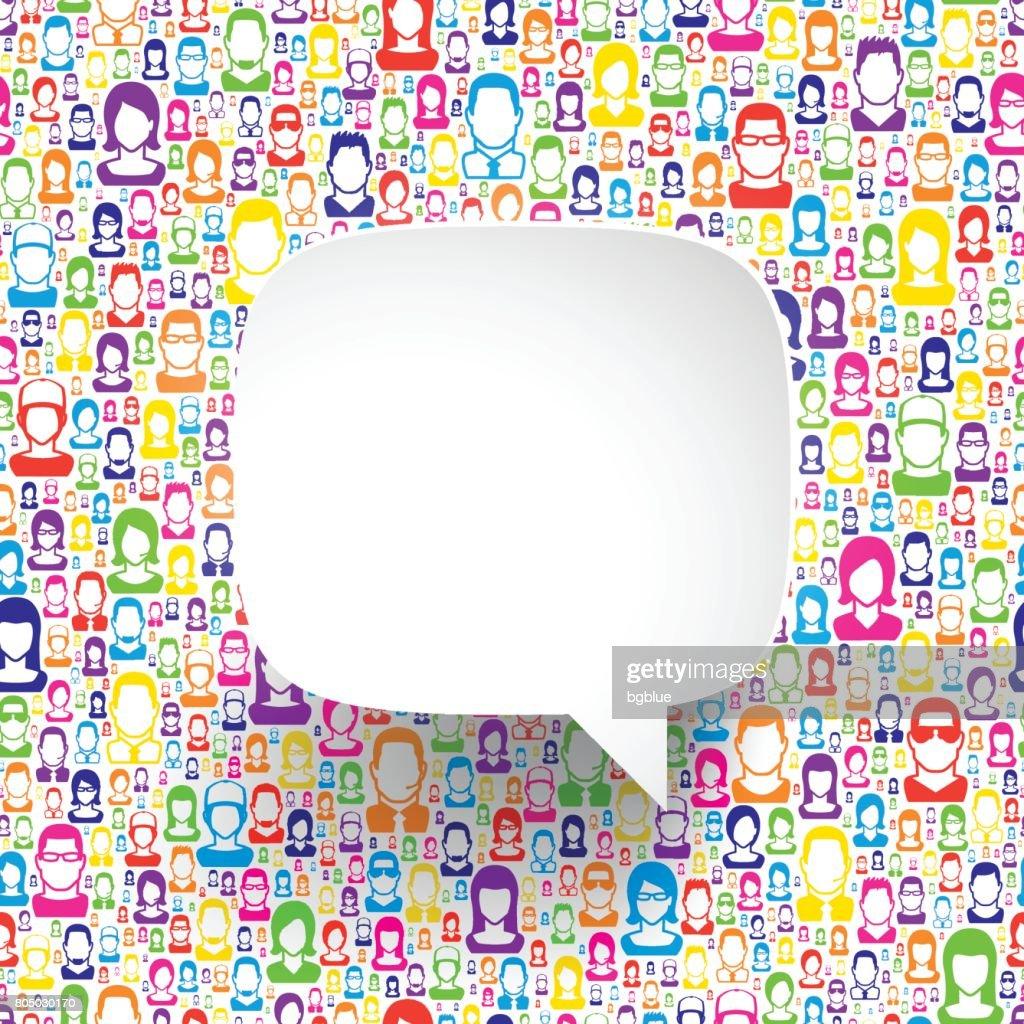 Speech Bubble on color people : stock illustration
