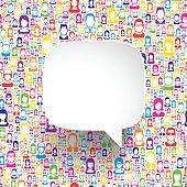 Speech Bubble on color people