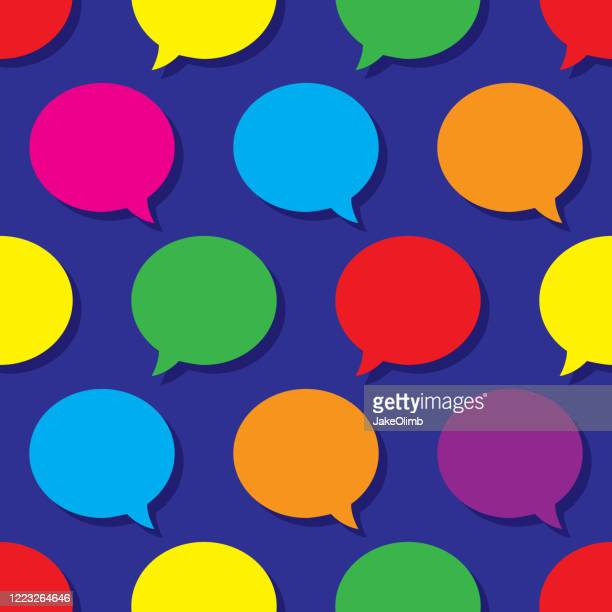 speech bubble pattern colorful - live broadcast stock illustrations