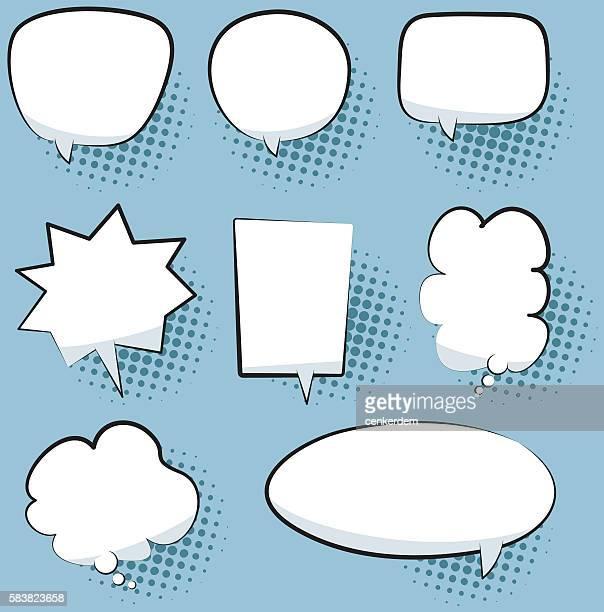 illustrations, cliparts, dessins animés et icônes de discours bulle ensemble - bulle bd