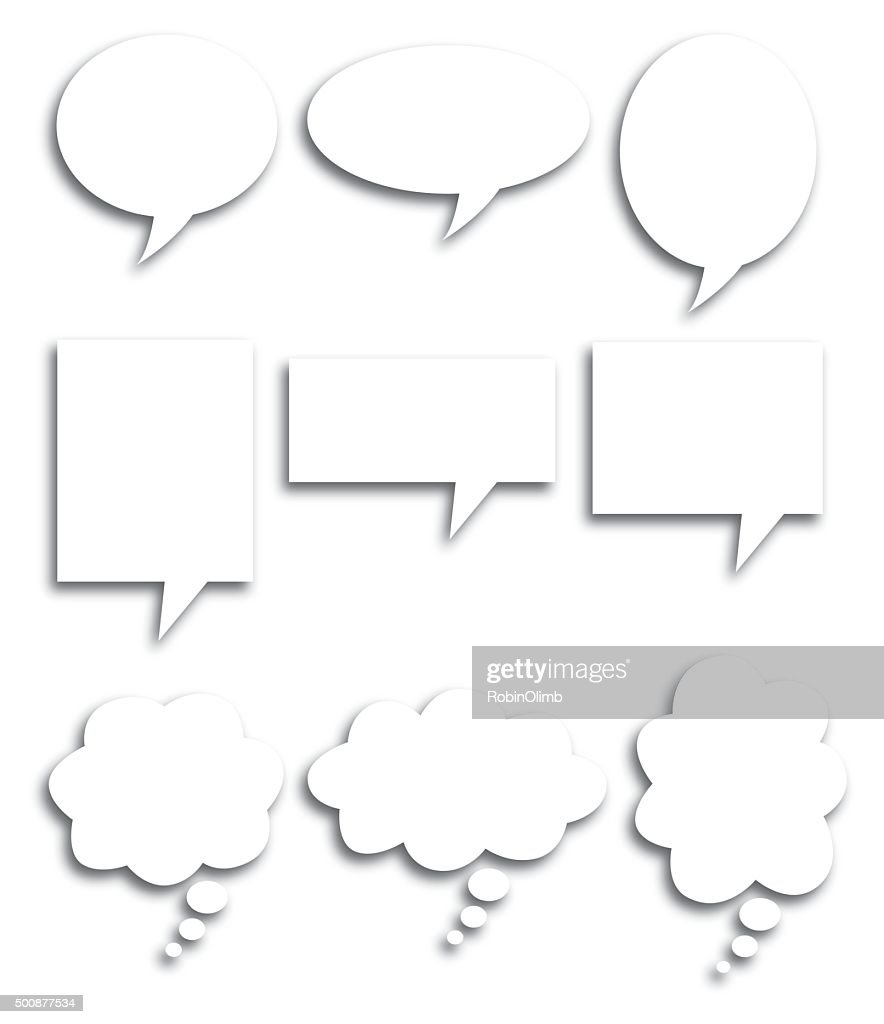 Speech Bubble Shadows : Stock Illustration