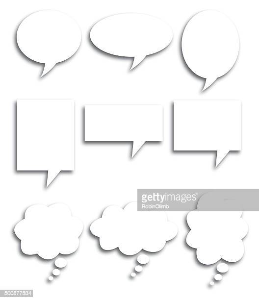 Speech Bubble Shadows