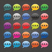Speech bubble sign chat room icon web button noise texture
