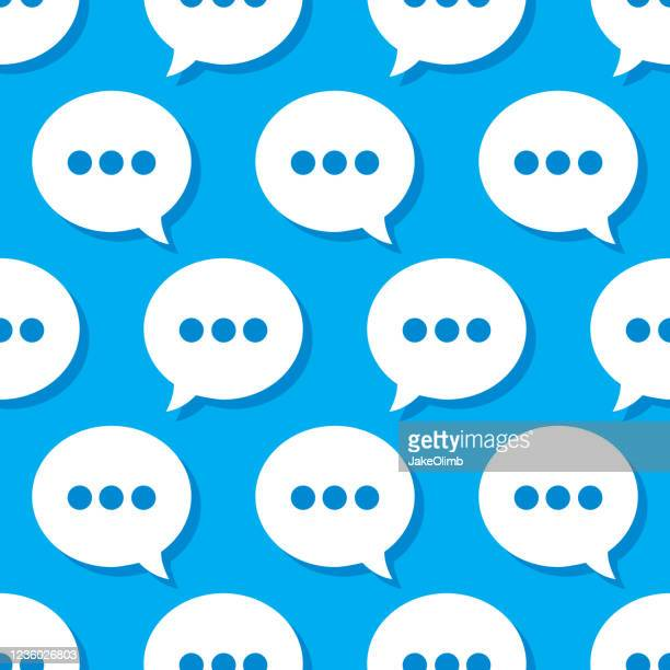 speech bubble texting pattern - live broadcast stock illustrations