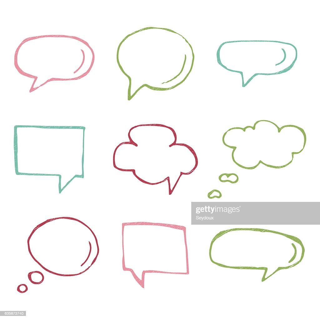 Speech bubble vector icons.