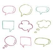 Speech bubble vector icons.
