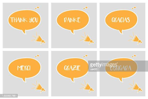 speech bubble - thanks quotes stock illustrations