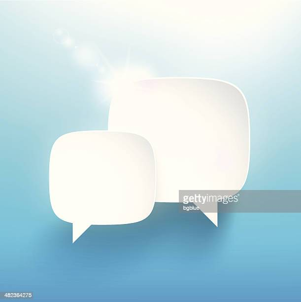 speech bubble - two objects stock illustrations