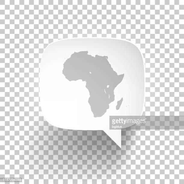 speech bubble with africa map on blank background - madagascar stock illustrations, clip art, cartoons, & icons