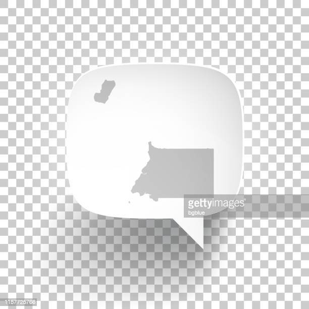 stockillustraties, clipart, cartoons en iconen met speech bubble met equatoriaal-guinea kaart op blanco achtergrond - bloco