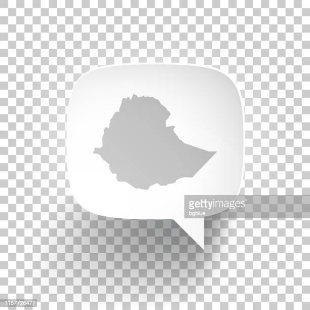 ilustrações, clipart, desenhos animados e ícones de bolha do discurso com mapa de etiópia no fundo em branco - ethiopia