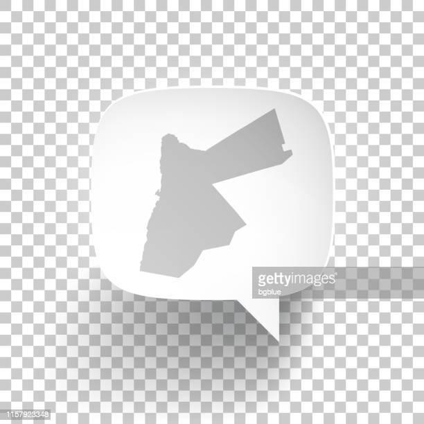 Speech Bubble with Jordan map on blank background