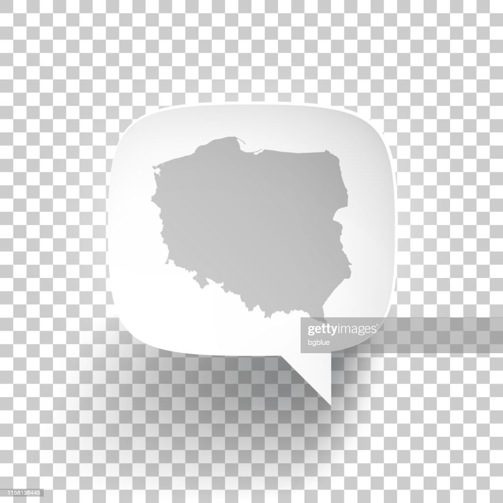 Picture of: Speech Bubble With Poland Map On Blank Background High Res Vector Graphic Getty Images