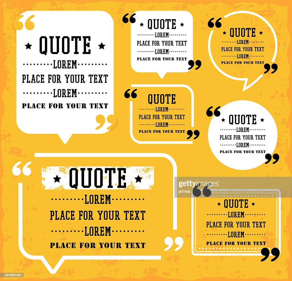 Speech Bubble with Quotes