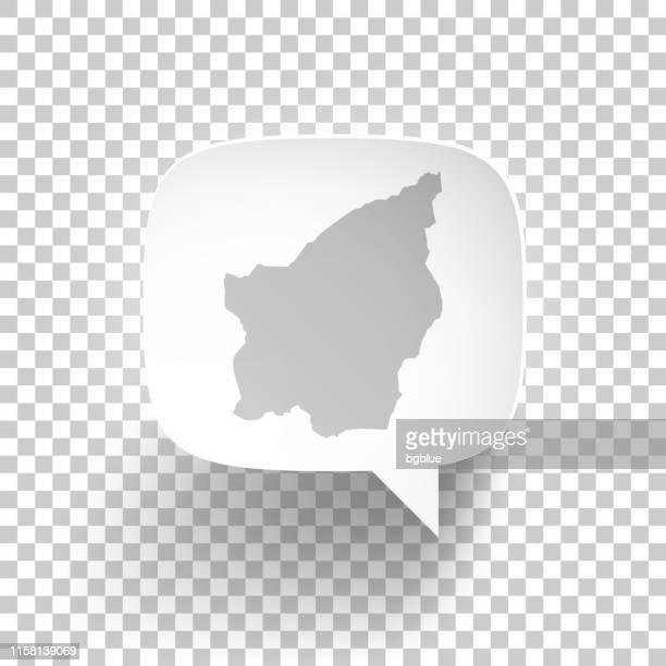 speech bubble with san marino map on blank background - republic of san marino stock illustrations