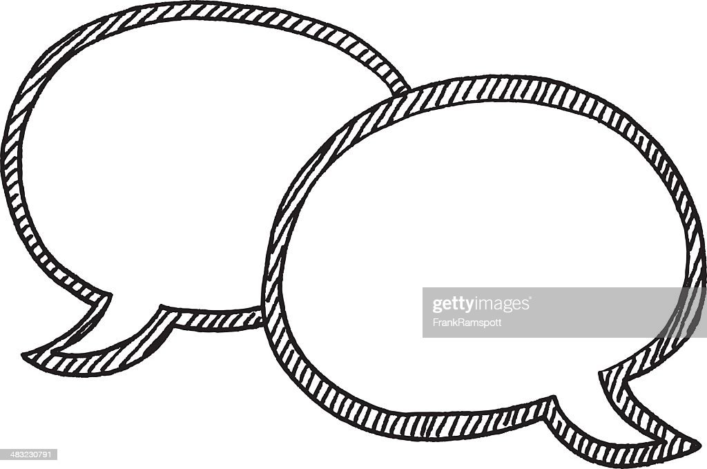 speech bubbles blank drawing vector art getty images rh gettyimages co uk