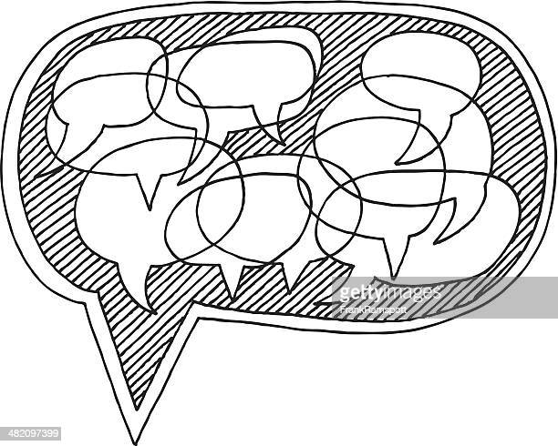 Speech Bubbles Communication Concept Drawing