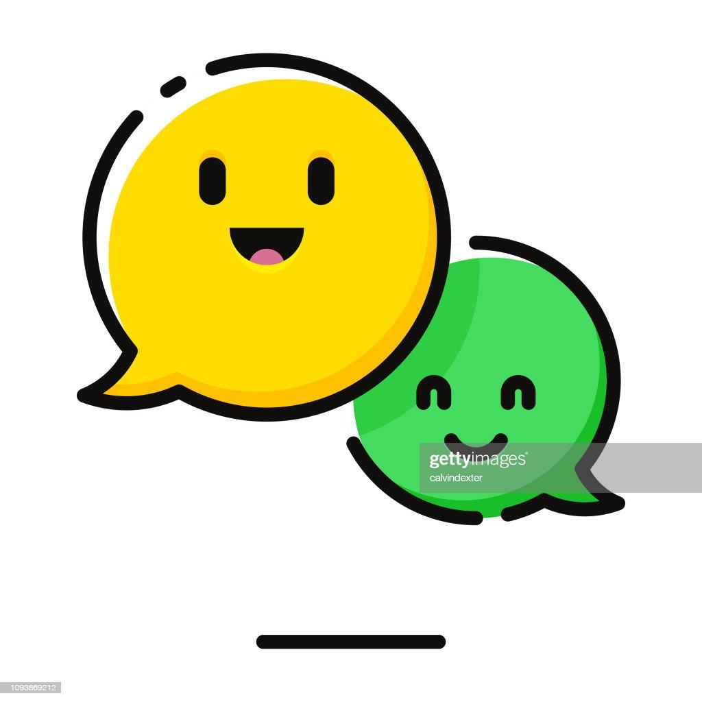 Sprechblasen emoticons : Stock-Illustration