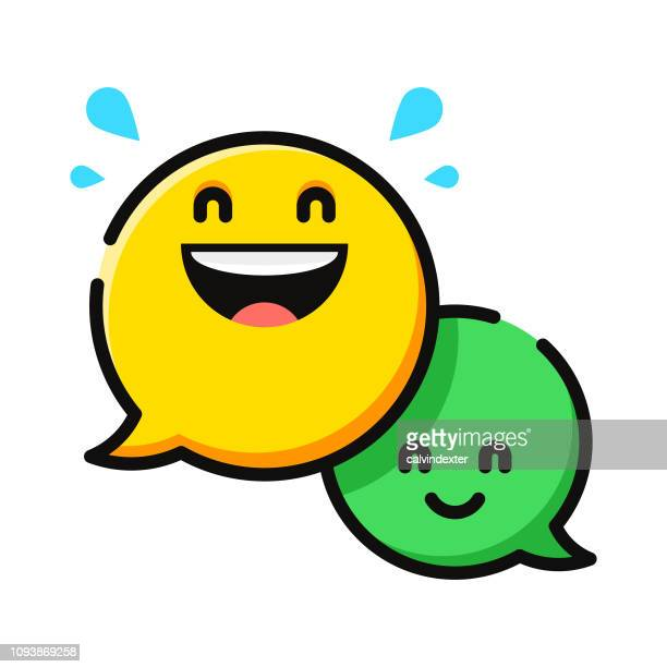 Speech bubbles emoticons