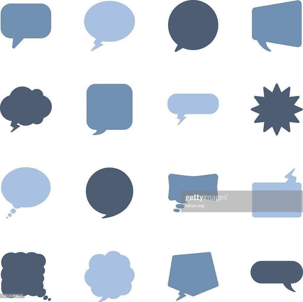 speech bubbles icons : stock illustration