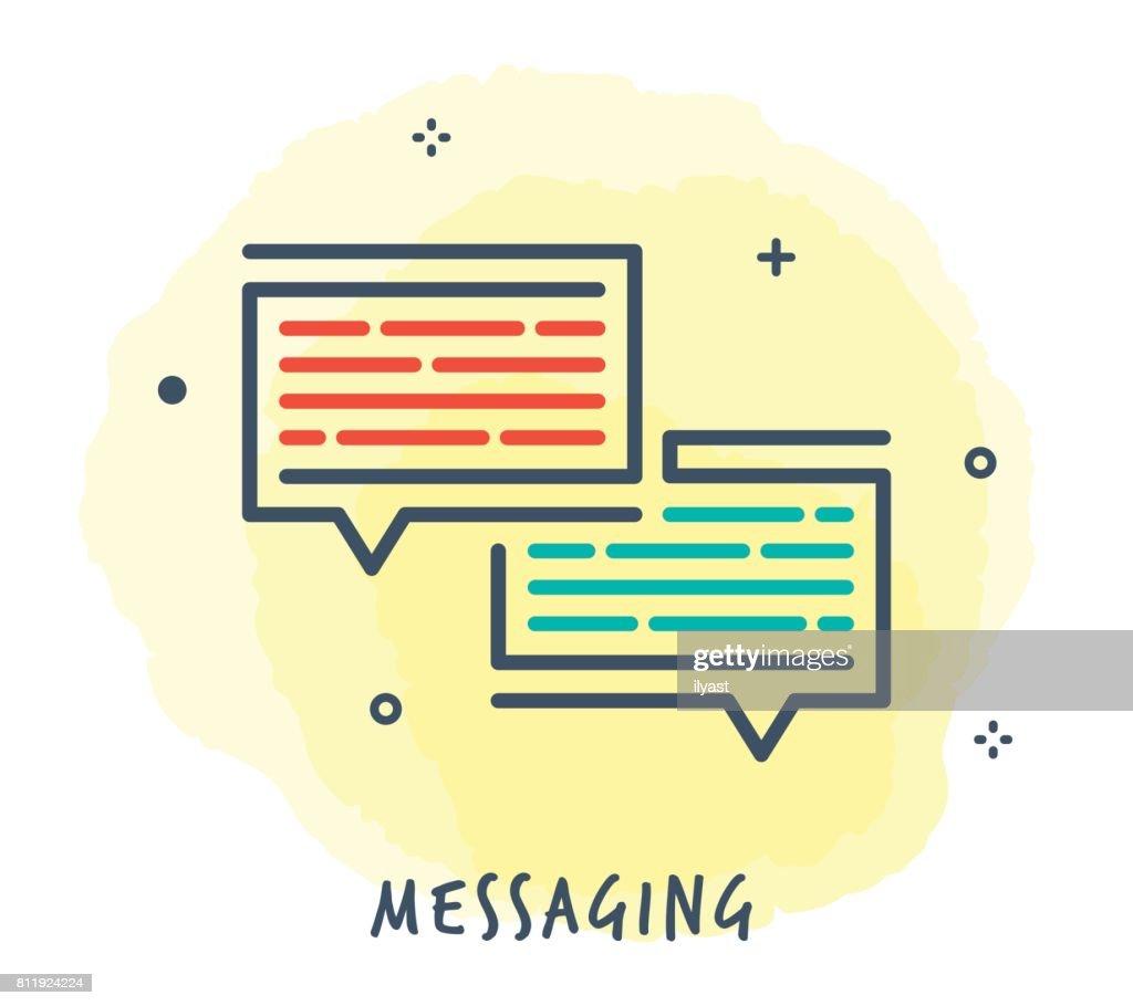 Speech Bubbles Line Icon