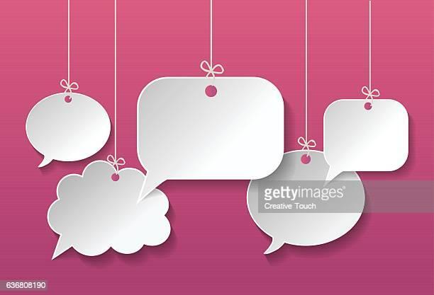 Speech Bubbles on pink
