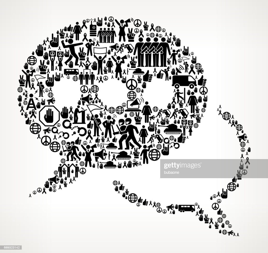 Speech Bubbles Protest and Civil Rights Vector Icon Background : Stock Illustration