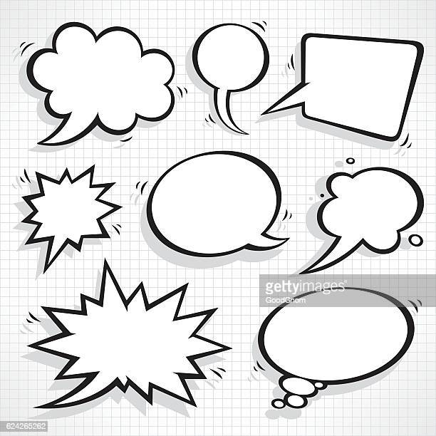 speech bubbles set - humor stock illustrations