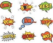 Speech bubbles set. Vector isolated illustrations.