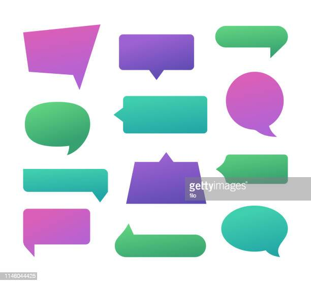 speech bubbles - discussion stock illustrations