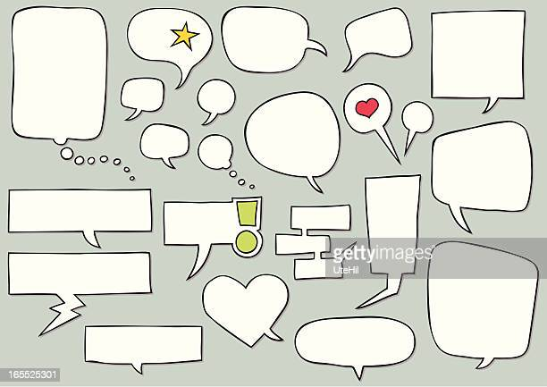 speech bubbles - thought bubble stock illustrations