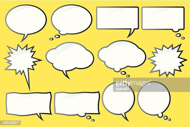 illustrations, cliparts, dessins animés et icônes de discours de bulles - bulle bd
